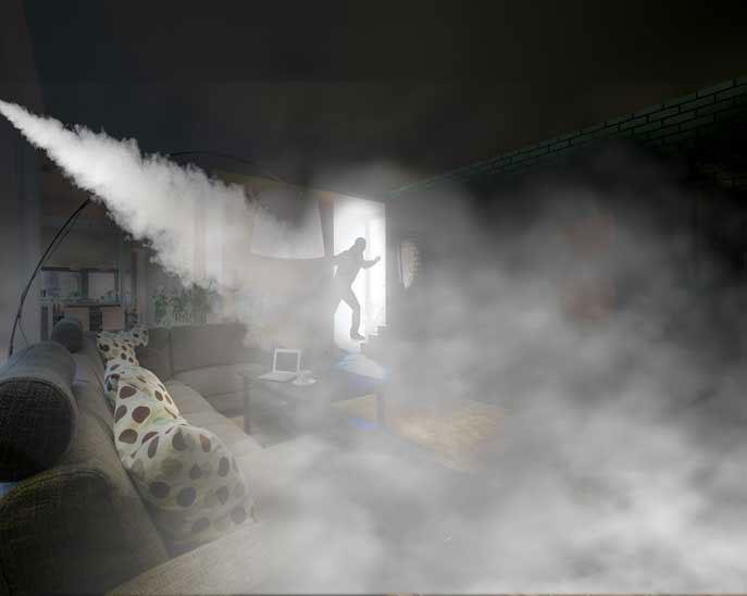 alarma con humo antirrobo